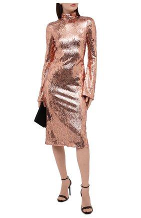 Женское платье с пайетками GALVAN LONDON золотого цвета, арт. CD1070 MIRR0R SEQUIN | Фото 2
