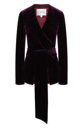 Женский жакет GALVAN LONDON фиолетового цвета, арт. JK7033 STRETCH VEL0UR | Фото 1