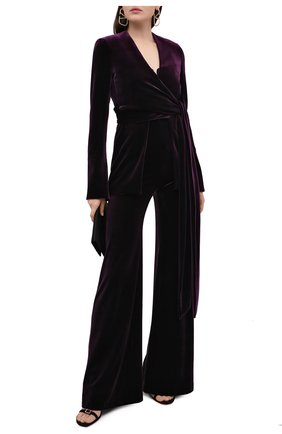 Женский жакет GALVAN LONDON фиолетового цвета, арт. JK7033 STRETCH VEL0UR | Фото 2