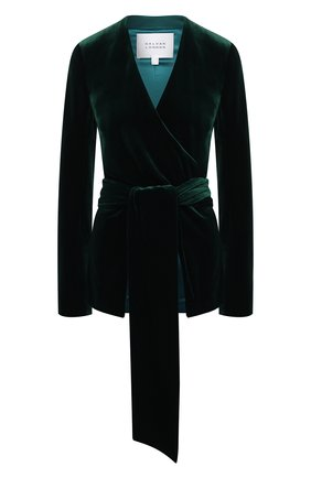Женский жакет GALVAN LONDON зеленого цвета, арт. JK7033 STRETCH VEL0UR | Фото 1