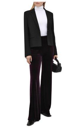 Женские брюки GALVAN LONDON фиолетового цвета, арт. TR3040 STRETCH VEL0UR | Фото 2