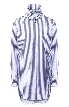 Женская хлопковая рубашка VICTORIA BECKHAM голубого цвета, арт. 1420WSH002116E | Фото 1