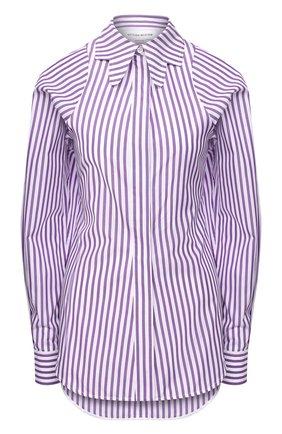Женская хлопковая рубашка VICTORIA BECKHAM фиолетового цвета, арт. 1420WSH001967B | Фото 1