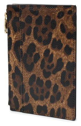 Женский кожаный футляр для кредитных карт DOLCE & GABBANA леопардового цвета, арт. BI1390/AI915 | Фото 2