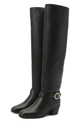 Женские кожаные сапоги beca 45 JIMMY CHOO черного цвета, арт. BECA 0TK 45/SQM | Фото 1
