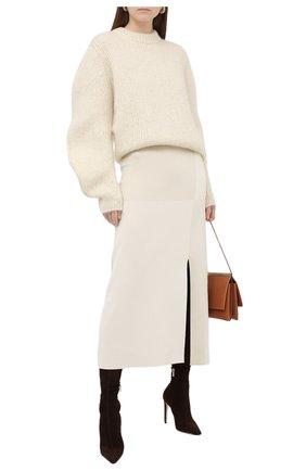 Женские замшевые ботфорты brisa 100 JIMMY CHOO коричневого цвета, арт. BRISA 100/SSU | Фото 2