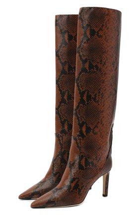 Женские кожаные сапоги mavis 85 JIMMY CHOO коричневого цвета, арт. MAVIS 85/NKE | Фото 1