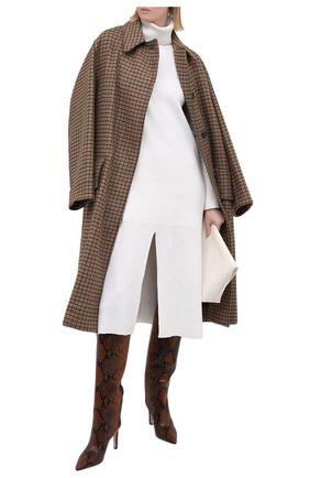 Женские кожаные сапоги mavis 85 JIMMY CHOO коричневого цвета, арт. MAVIS 85/NKE | Фото 2
