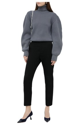 Женские замшевые туфли rene 65 JIMMY CHOO синего цвета, арт. RENE 65/SPT | Фото 2