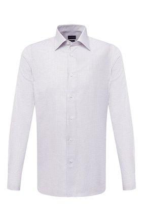 Мужская хлопковая рубашка ERMENEGILDO ZEGNA белого цвета, арт. 801079/9MS0PA | Фото 1