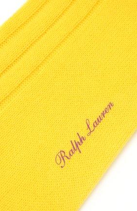 Мужские кашемировые носки RALPH LAUREN желтого цвета, арт. 450825663 | Фото 2
