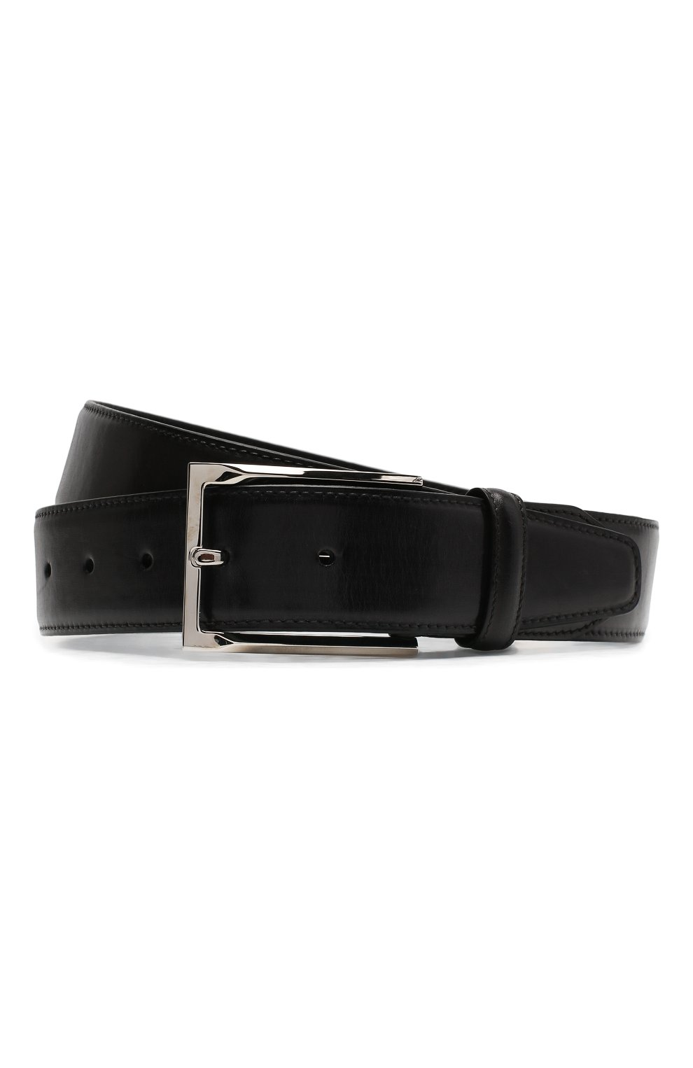 Мужской кожаный ремень BRIONI темно-серого цвета, арт. 0BAV0L/P9739 | Фото 1