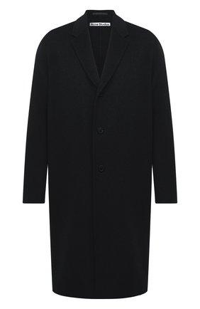 Мужской шерстяное пальто ACNE STUDIOS черного цвета, арт. B90467 | Фото 1