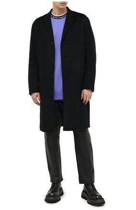 Мужской шерстяное пальто ACNE STUDIOS черного цвета, арт. B90467 | Фото 2