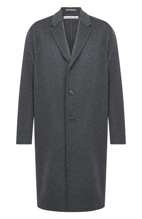 Мужской шерстяное пальто ACNE STUDIOS темно-серого цвета, арт. B90467 | Фото 1
