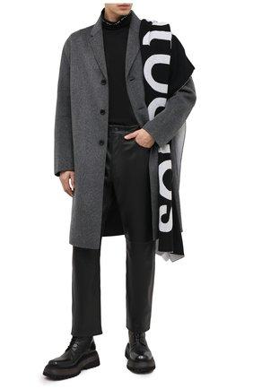 Мужской шерстяное пальто ACNE STUDIOS темно-серого цвета, арт. B90467   Фото 2