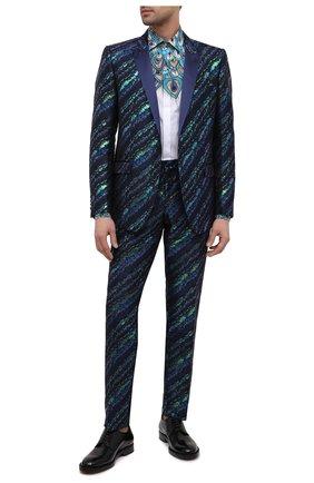 Мужская хлопковая рубашка DOLCE & GABBANA бирюзового цвета, арт. G5GB5T/HP58W | Фото 2