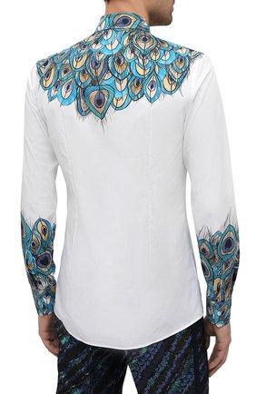 Мужская хлопковая рубашка DOLCE & GABBANA бирюзового цвета, арт. G5GB5T/HP58W   Фото 4