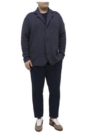 Мужская шерстяной кардиган PAUL&SHARK синего цвета, арт. I20P1258/FLV/3XL-6XL | Фото 2