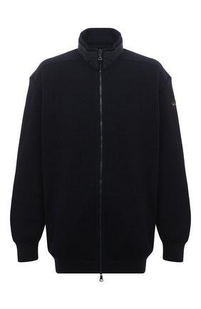 Мужская шерстяной кардиган PAUL&SHARK темно-синего цвета, арт. I20P1281/GQK/3XL-6XL | Фото 1