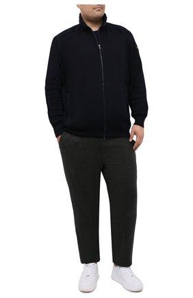 Мужская шерстяной кардиган PAUL&SHARK темно-синего цвета, арт. I20P1281/GQK/3XL-6XL | Фото 2