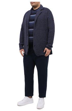 Мужской джемпер из шерсти и кашемира PAUL&SHARK темно-синего цвета, арт. I20P1412/FEQ/3XL-6XL | Фото 2