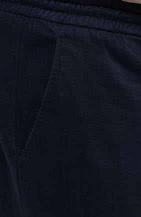 Мужские брюки из хлопка и кашемира MARCO PESCAROLO синего цвета, арт. CARACCI0L0/4210   Фото 5 (Big sizes: Big Sizes; Длина (брюки, джинсы): Стандартные; Случай: Повседневный; Материал внешний: Хлопок; Стили: Кэжуэл)