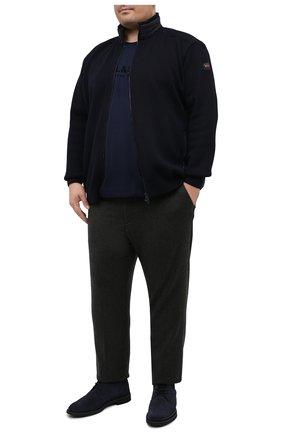 Мужской брюки из кашемира и шерсти MARCO PESCAROLO темно-зеленого цвета, арт. CARACCI0L0/4274 | Фото 2