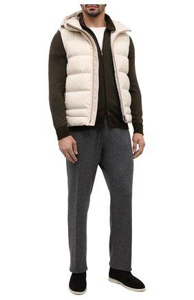 Мужские кашемировые брюки MARCO PESCAROLO серого цвета, арт. CARACCI0L0/4298 | Фото 2