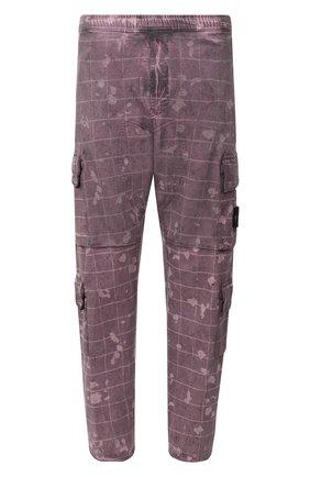 Мужской хлопковые брюки-карго STONE ISLAND бордового цвета, арт. 7315317E2 | Фото 1