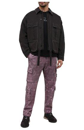 Мужской хлопковые брюки-карго STONE ISLAND бордового цвета, арт. 7315317E2 | Фото 2