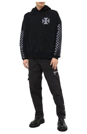 Мужской хлопковые брюки-карго RHUDE серого цвета, арт. RHU08PF20045 | Фото 2