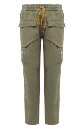 Мужской хлопковые брюки-карго RHUDE хаки цвета, арт. RHU08PF20044 | Фото 1