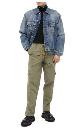 Мужской хлопковые брюки-карго RHUDE хаки цвета, арт. RHU08PF20044 | Фото 2