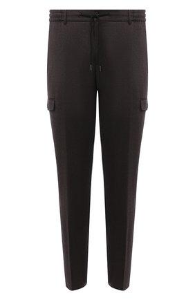 Мужской шерстяные брюки-карго BERWICH темно-коричневого цвета, арт. SUB/RD5470 | Фото 1