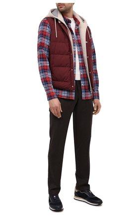 Мужской шерстяные брюки-карго BERWICH темно-коричневого цвета, арт. SUB/RD5470 | Фото 2