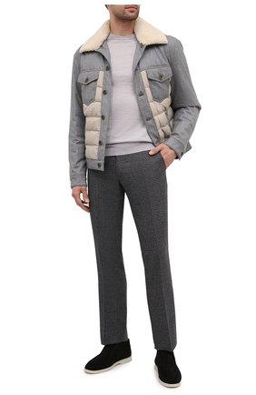 Мужские шерстяные брюки BERWICH серого цвета, арт. SC/1 ALC/RD8071 | Фото 2
