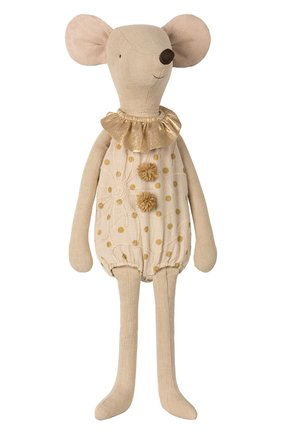 Детского игрушка цирковая мышка макси MAILEG золотого цвета, арт. 16-8792-00 | Фото 1