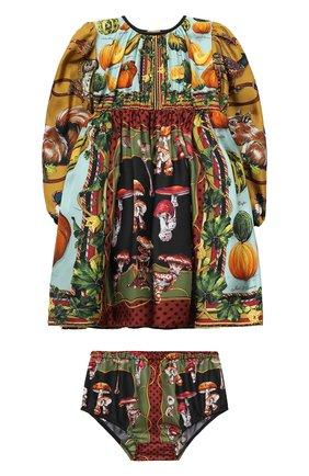 Женский комплект из платья и шорт DOLCE & GABBANA разноцветного цвета, арт. L22D07/G7XKP | Фото 1