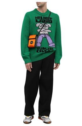 Мужская текстильная сумка off the grid GUCCI оранжевого цвета, арт. 625599/H9HAN | Фото 2 (Ремень/цепочка: На ремешке)