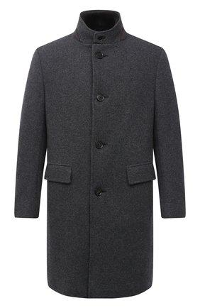 Мужской пальто с меховой подкладкой ERMENEGILDO ZEGNA серого цвета, арт. 877037/42PCS0 | Фото 1