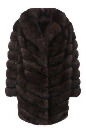 Женская шуба из меха соболя KUSSENKOVV коричневого цвета, арт. 723500003416 | Фото 1