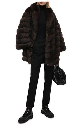 Женская шуба из меха соболя KUSSENKOVV коричневого цвета, арт. 723500003416 | Фото 2