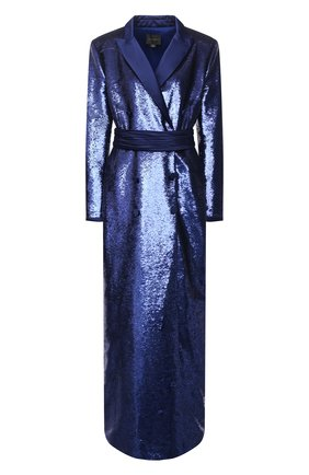 Женское платье с пайетками ZUHAIR MURAD синего цвета, арт. DRP20376/EMSE004 | Фото 1