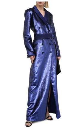 Женское платье с пайетками ZUHAIR MURAD синего цвета, арт. DRP20376/EMSE004 | Фото 2