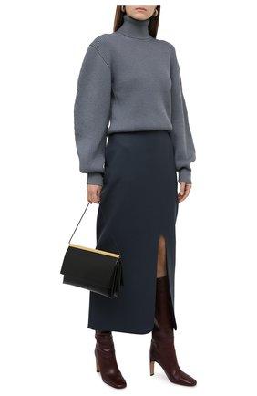 Женский шерстяной свитер JIL SANDER синего цвета, арт. JSWR751304-WRY20018   Фото 2
