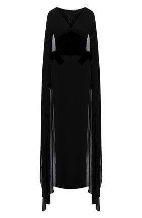 Женское платье из вискозы TOM FORD черного цвета, арт. ABJ506-FAX574 | Фото 1
