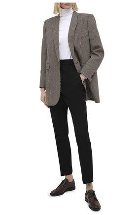 Женская кожаные дерби BRUNELLO CUCINELLI темно-коричневого цвета, арт. MZPRC1873 | Фото 2