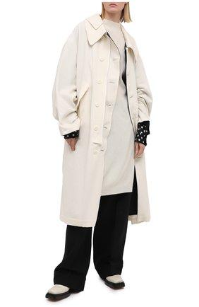 Женский шерстяной пуловер Y`S белого цвета, арт. YR-T02-160   Фото 2