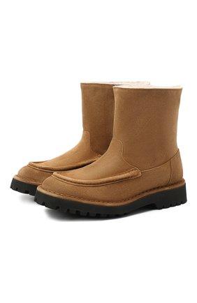 Женские замшевые ботинки KENZO коричневого цвета, арт. FA62BT017L58 | Фото 1